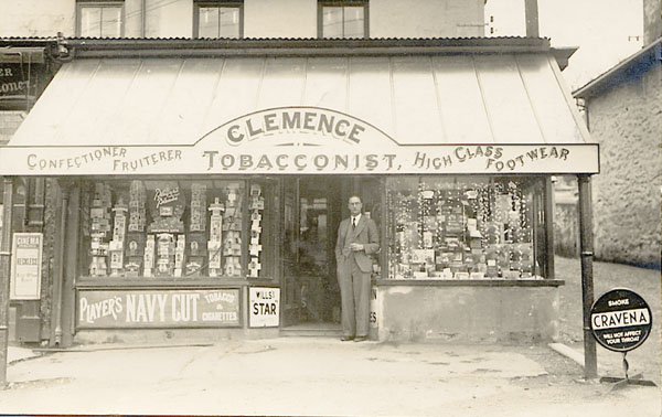 Father-in-law's sweet & tobacconist shop before it became Warrens at Foundry Square, Hayle