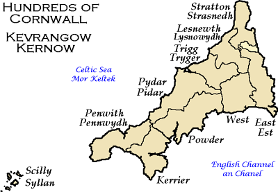 The old 'hundreds' of Cornwall