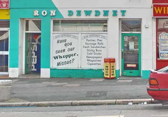 Ron Dewdney's pasty shop, 202 Keyham Road, Devonport, Plymouth, opposite St Levan Gate into the Naval Dockyard